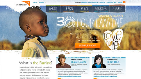 World Vision Themable Web Site